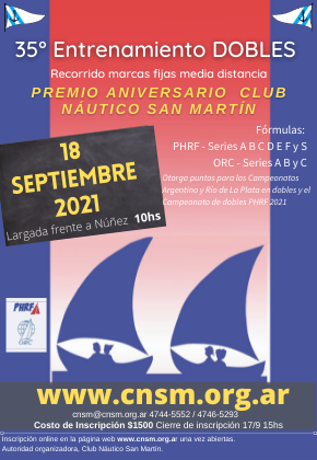 33a Regata en dobles 29/9/2019 9hs
